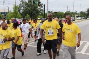 "Founder of ""I Am a Father"" Walk/Run David Manuel and others enjoying the annual Father's Day 5K June 2016"