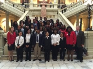Tucker Middle FCCLA at the Georgia State Capitol w/ Senator Steve Henson and FCCLA State officers.