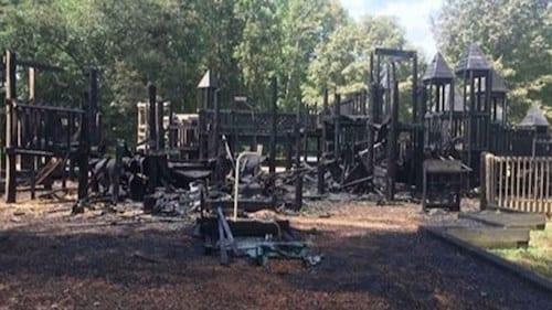 arson playground fire