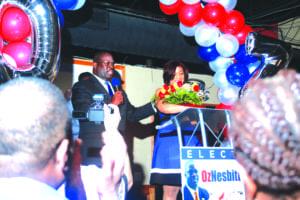 Oz Nesbitt at victory celebration
