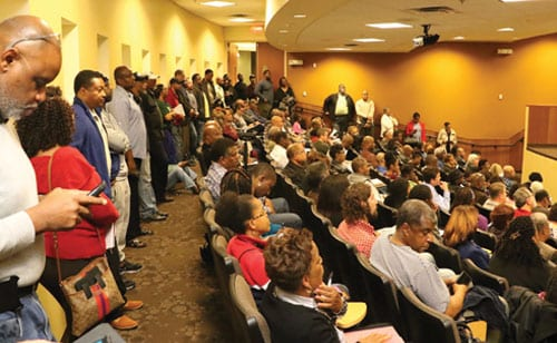 Top:Stakeholders packed out the DeKalb Medical Hillandale Auditorium to learn about the city and other activities