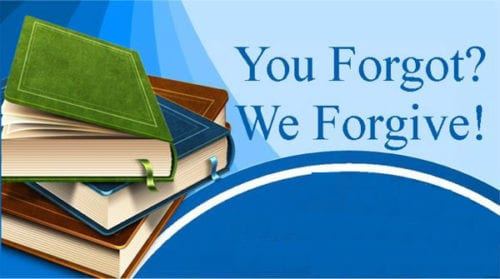 Image result for library fine forgiveness