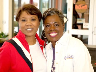 L-R: Pastor Billie Cox and Dr. Toni G. Alvarado pose for photos at the Feb. 3 empowerment conference, which was held at the Rockdale Career Academy. An estimated 200 girls from middle schools and high schools participated in the event. Photos by Glenn L. Morgan