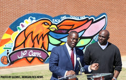 Rockdale unveils outdoor mural at historic J.P. Carr Gym