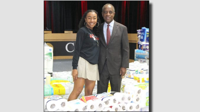 Kendall Robinson and DeKalb County CEO Michael. Photos provided