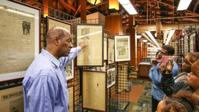 Mike Glenn leads a group on a guided tour of his Civil Rights exhibit. Photos by Travis Hudgons/OCG News