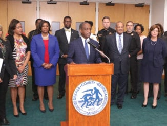 DeKalb County officials gathered to announce DeKalb's first record restriction summit and job fair. Photo by Travis Hudgons/OCG News