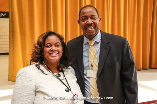 Stoneview Elementary School Principal Cassandra Davis and Lithonia High School Principal Darrick McCray