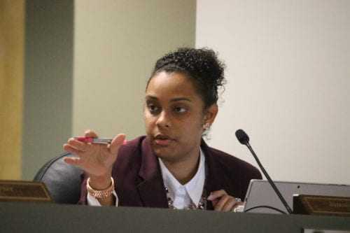 Council member Jazzmin Cobble questioned several discrepancies with the city's budget, incoming revenue and current assets. Photo by: OCGNEWS Glenn L. Morgan