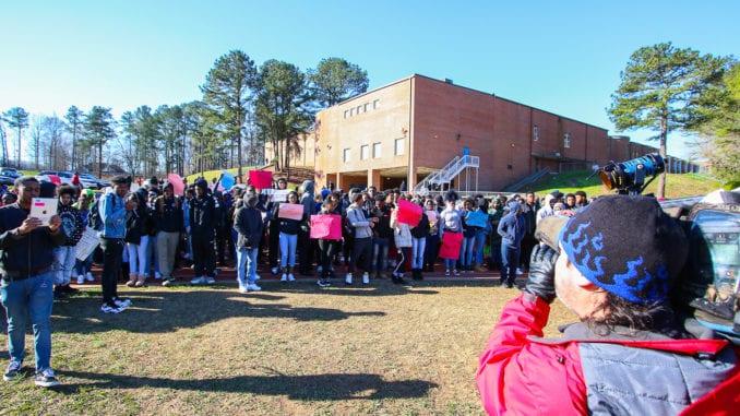 Students at Cedar Grove High School