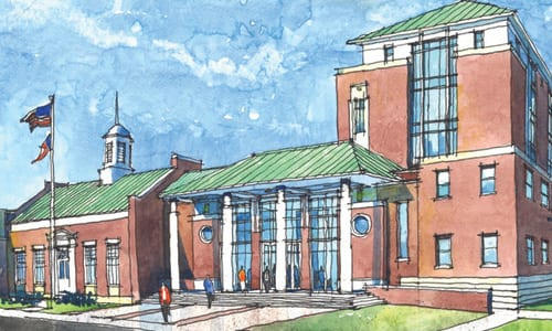 A rendering of Rockdale County Courthouse.
