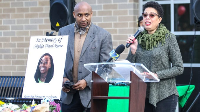 Beacon Hill NAACP leaders Jana Johnson-Davis and her husband, Attorney Mawuli Davis, organized the candlelight vigil.  Photo by Travis Hudgons/OCG News