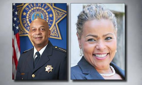 DeKalb County Sheriff Jeffrey Mann and Superior Court Clerk Debra DeBerry