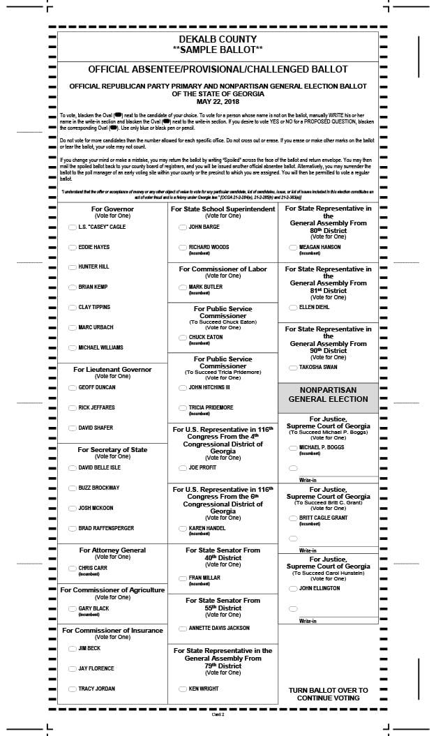 Polk county primary election 2018 sample ballots.
