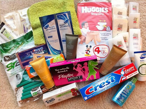 collects toiletries for needy