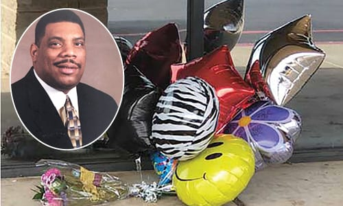 Friends placed a memorial of flowers and balloons in front of Jesse's Restaurant & Lounge, located in the Wesley Chapel Crossing Shopping Center in South DeKalb. Mr. Cunningham was remembered on April 7 at the Cultural Exchange Community Breakfast hosted by Stonecrest City Councilman Rob Turner and his wife, DeKalb School Board member Vicki B. Turner. The packed audience held a moment of silence to remember Mr. Cunningham.