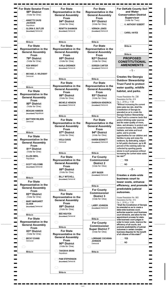 showing 3rd image of Gwinnett County Sample Ballot 2018 Voter Guide: Information for Georgia's 2018 primary ...