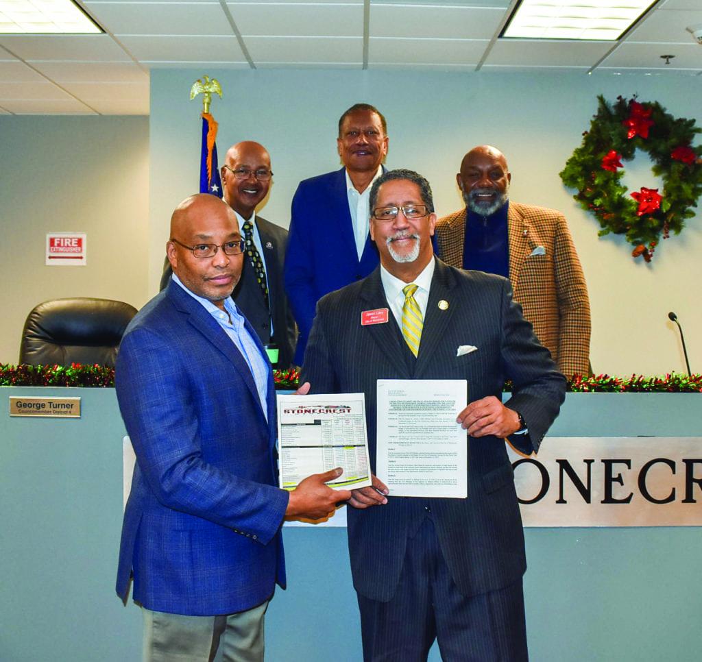 Mayor, Michael Harris, Councilmembers Clanton, Turner and Turner Budget 2019