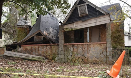 DeKalb County demolished 31 properties in 2018, including 521 Warren Avenue, Scottdale, GA. The Demolitions and Abatements Task Force was established to create a coordinated and expedited approach to wipe out blight in DeKalb. Photos provided