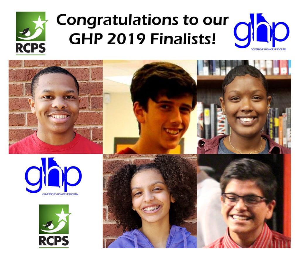 GHP Finalists Robert Boone, Brandon Gignilliat, Elizabeth Lee, Amaya Sommer, Shivam Vohra