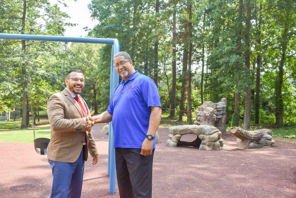 Mayor and Sean Depalma at Browns Mill